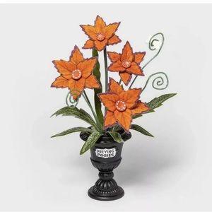 Hyde & Eek Orange Praying Posies Planter BRAND NEW